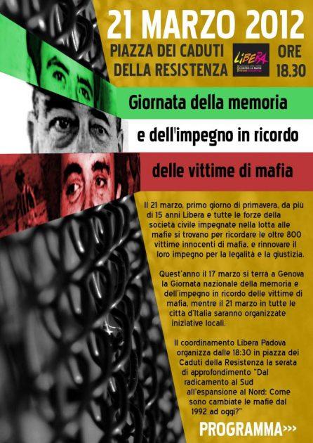 giornata della memoria 21 marzo 2012 libera