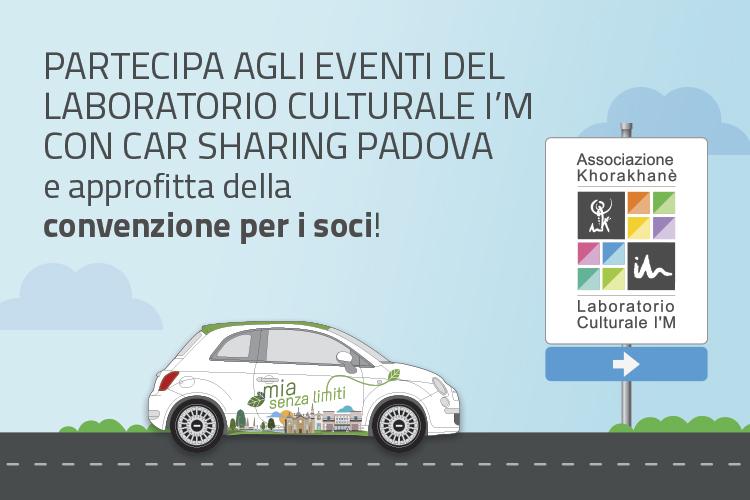 Convenzione Car Sharing Padova Aps e Associazione Khorakhanè